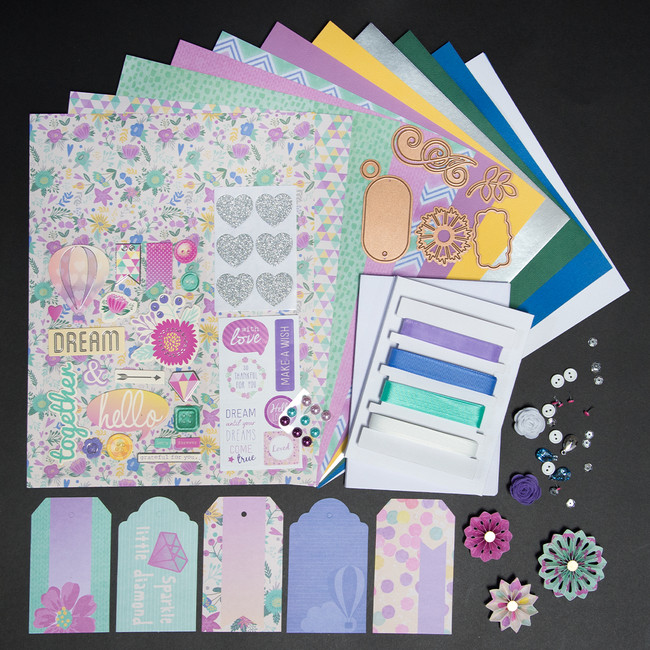 Purple & Mint  Card Kit - Card Kit of the Month Club