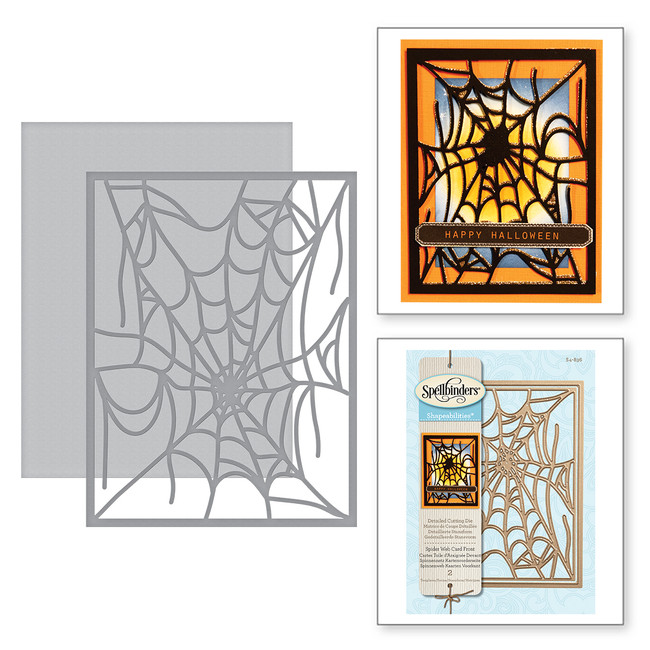 Card Creator Spider Web Card Front Holiday 2017 Etched Dies
