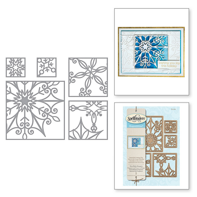Shapeabilities Snowflake Snippets Holiday 2017 Etched Dies