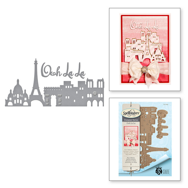 Shapeabilities Paris Skyline Etched Dies Ooh La La Collection by Stacey Caron