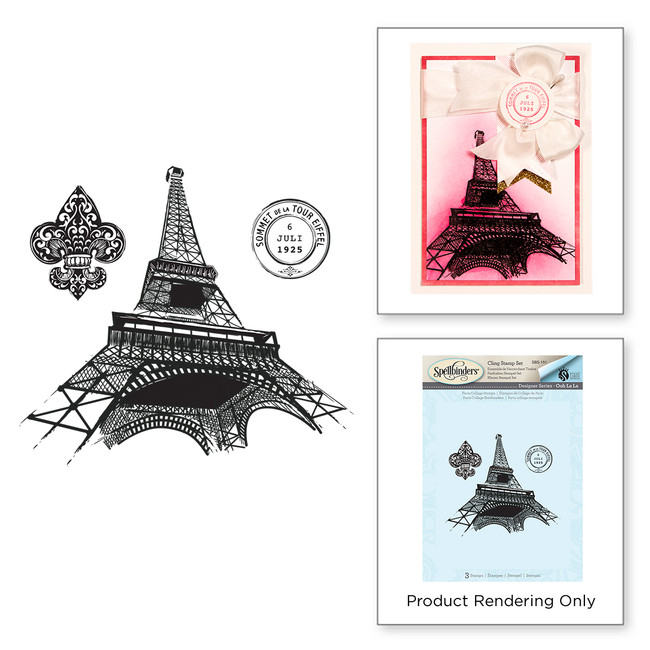 Paris Collage Stamps Stamp Set Ooh La La Collection by Stacey Caron