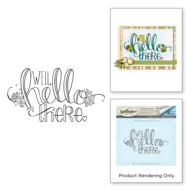 Spellbinders Hello There stamp by Tammy Tutterow