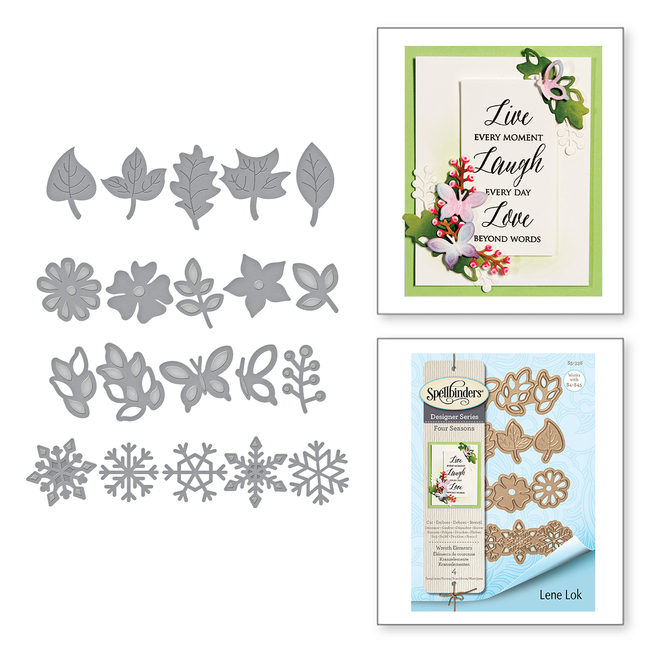 Shapeabilities Wreath Elements Etched Dies Four Seasons by Lene Lok
