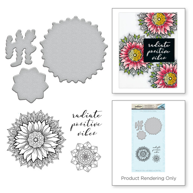 Sunflower Cool Vibes by Stephanie Low Stamp and Die Set