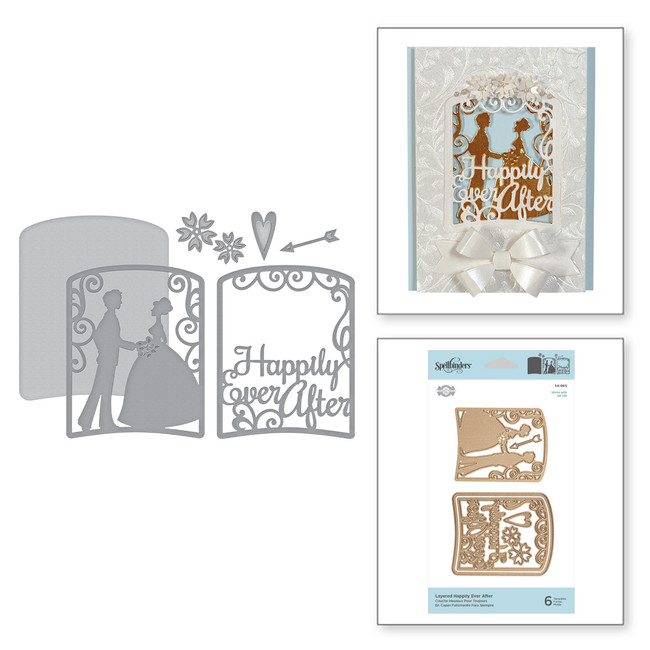 Shapeabilities Layered Happily Ever After Etched Dies Elegant 3D Vignettes by Becca Feeken