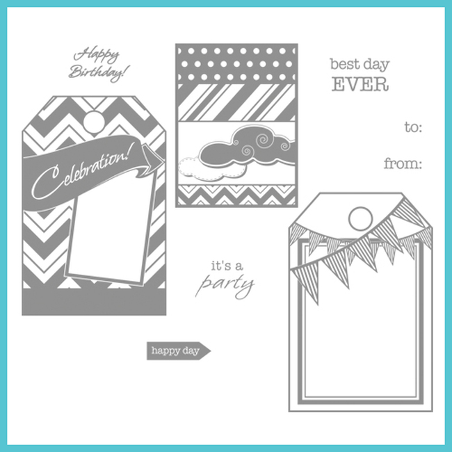 Celebrations Fun Tags Stamps