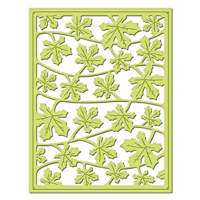Leaves a Fallin' Decorative Card Front Card Creator Etched Dies