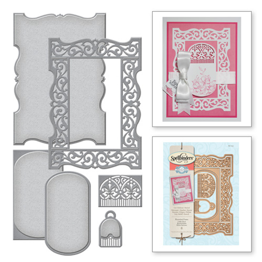 Nestabilities Amazing Paper Grace Flourish Frame Etched Dies (S6-051)