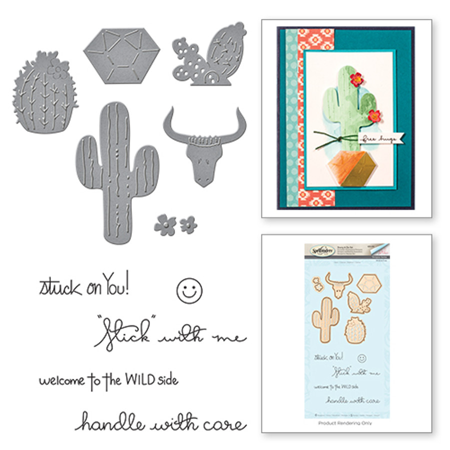 Cacti Wild & Free by Debi Adams Stamp & Die Set