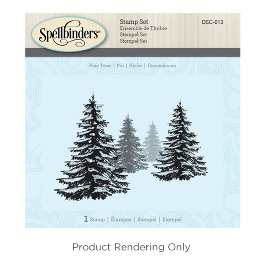 Pine Trees Holiday 3D Shading Stamps
