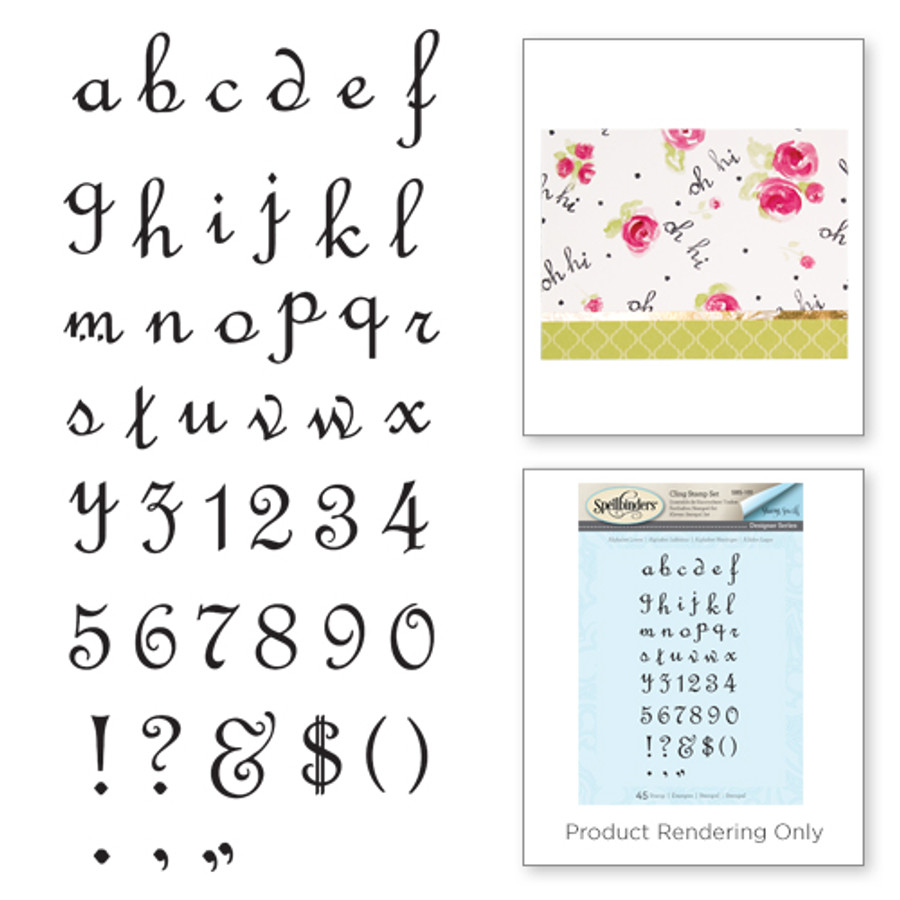 Alpha Lower Stamp set from the Joyous Celebrations Collection by Sharyn Sowell