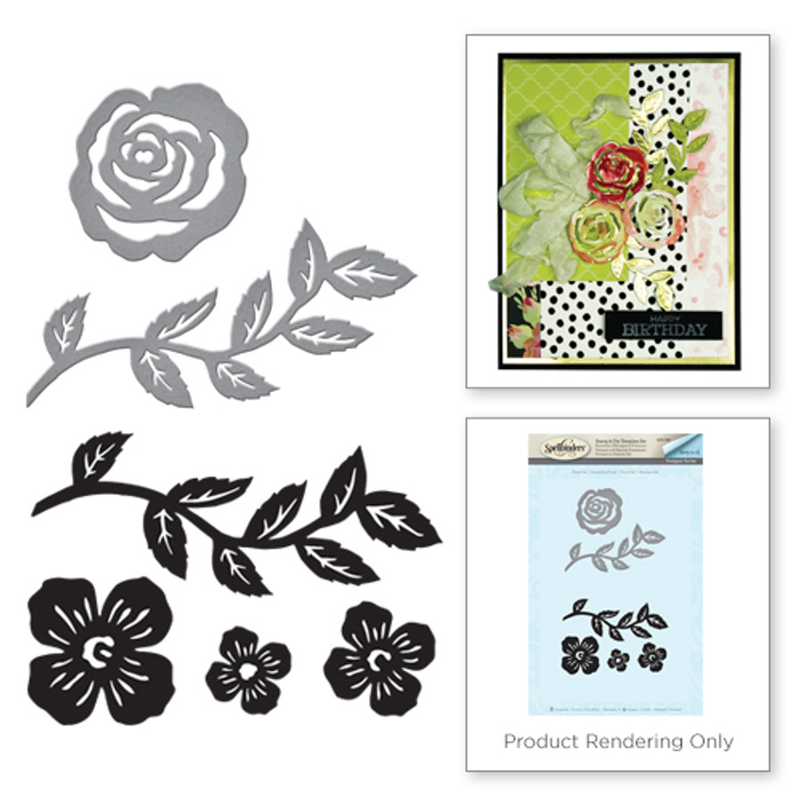 Floral Set Stamp and Die Set from the Joyous Celebrations Collection by Sharyn Sowell