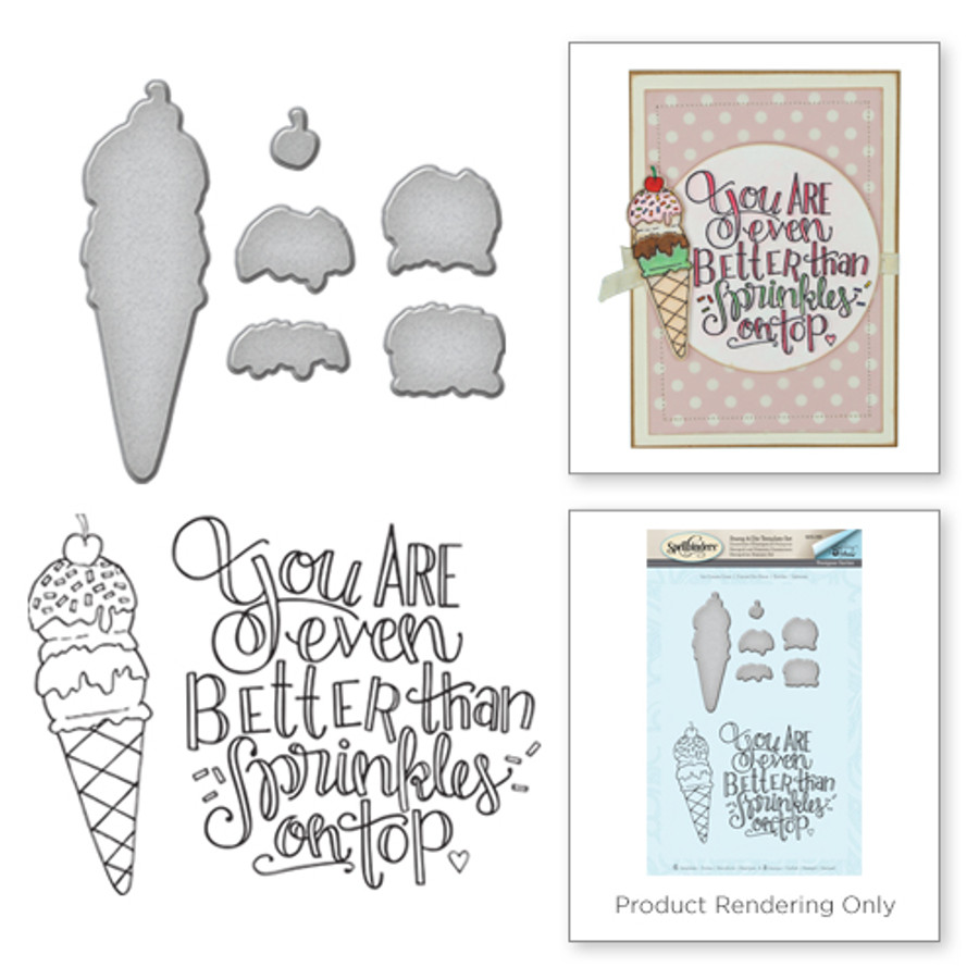 Ice Cream Cone Stamp and Die Set from the Happy Grams #3 by Tammy Tutterow