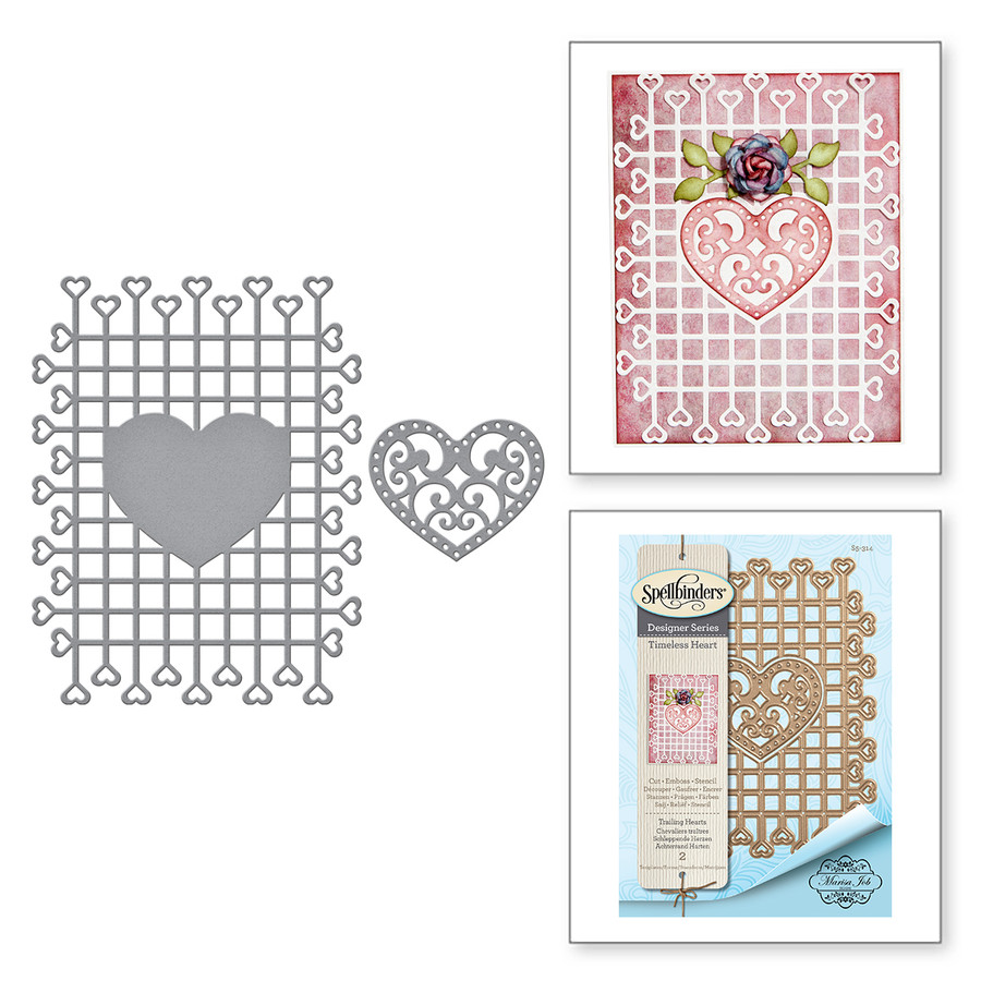 Shapeabilities Trailing Hearts Etched Dies Timeless Heart Collection by Marisa Job