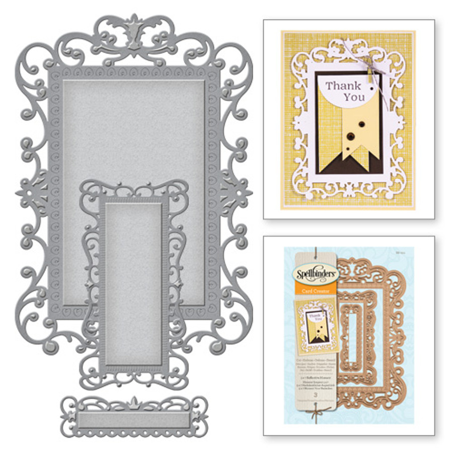 5 x 7 Reflective Moment Card Creator Etched Dies