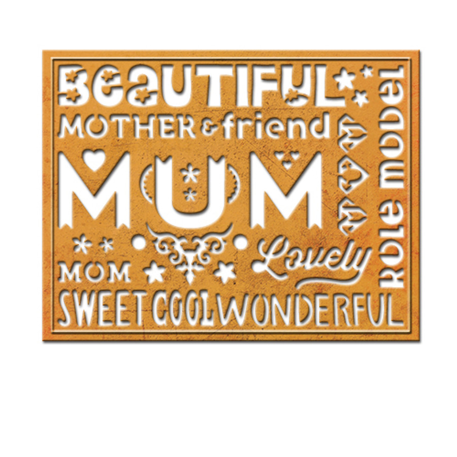 Wonderful Mum Card Creator Etched Dies