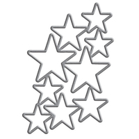 Shapeabilities Donna Salazar Designs Cascading Stars Etched Dies