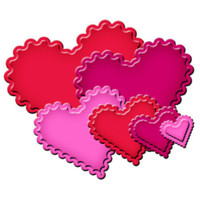 Nestabilities Classic Scalloped Heart Etched Dies