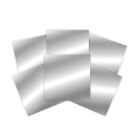 Platinum Pack 2 - 6 in x 6 in Silver Craft Metal Sheets (6 Pieces) (PLP-002)