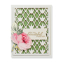 Nestabilities Card Creator Botanical Bliss Stacey Caron Floral Trellis Etched Dies (S4-643)