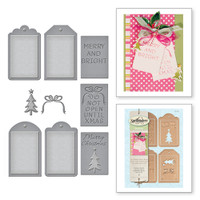 Shapeabilities Holiday Christmas Tag Set Etched Dies