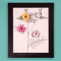 Create a-Flower 3-D Paper Wall Art Kit