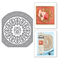 Nestabilities Fleur de Circle Etched Dies from the Rouge Royale Deux Collection by Stacey Caron