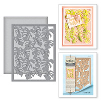 Card Creator Monstera Leaf Card Front Etched Dies Tropical Paradise by Lene Lok