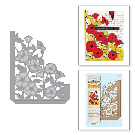 Card Creator Poppies Pocket Card (A2) Etched Dies