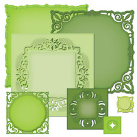 Nestabilities Adorning Squares Etched Dies