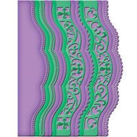 A2 Scalloped Borders Two Card Creator Etched Dies