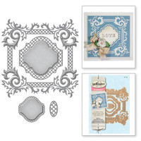 Nestabilities Labels Forty-One Decorative Accents Etched Dies