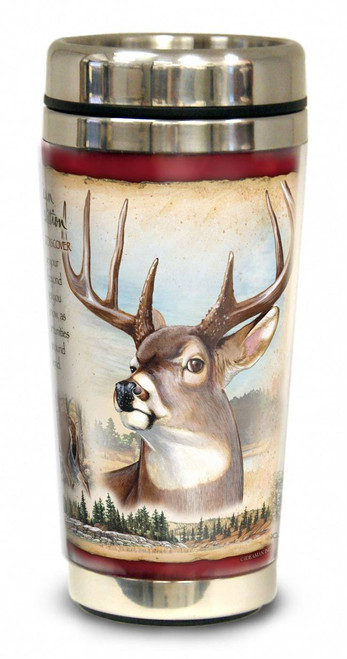Whitetail Deer 16-oz. Steel Travel Mug