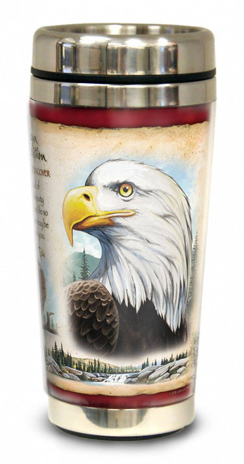 Bald Eagle 16-oz. Steel Travel Mug