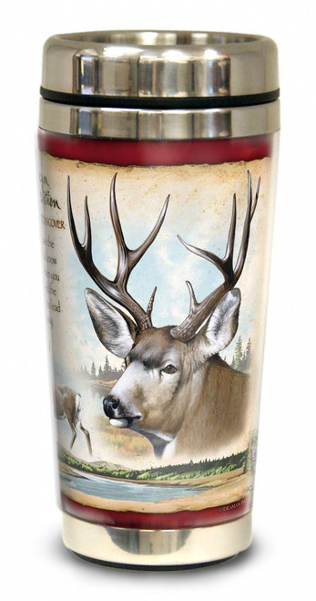 Mule Deer 16-oz Steel Travel Mug