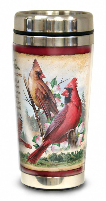 Northern Cardinal 16-oz. Steel Travel Mug