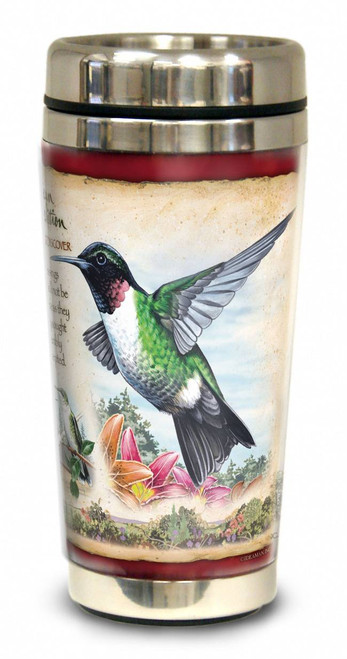 Hummingbird 16-oz. Steel Travel Mug