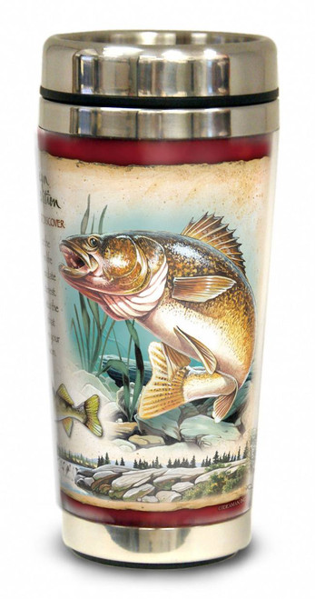 Walleye 16-oz Steel Travel Mug
