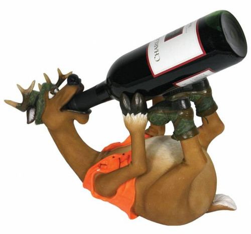 Drinking Deer Hunter Wine Bottle Holder