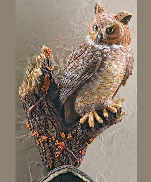 Great Horned Owl Hang-Up Hook