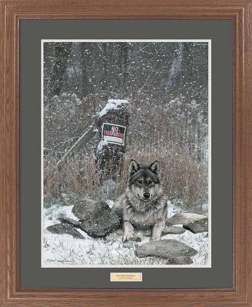 """Watchdog"" Wolf Framed Wildlife Art Print"