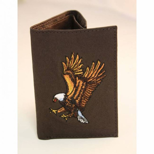 Trifold Wallet - Eagle (Brown)