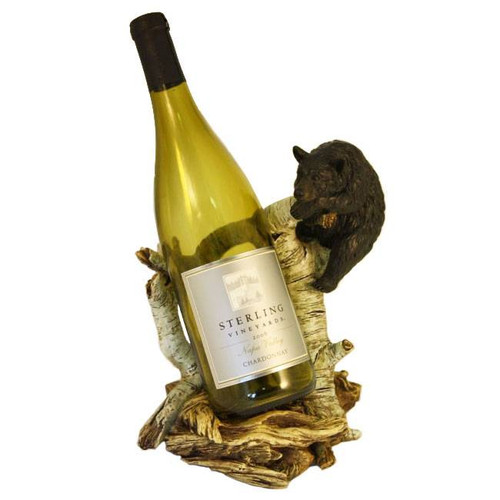 "Wine Bottle Holder - ""Bear and Birch"""