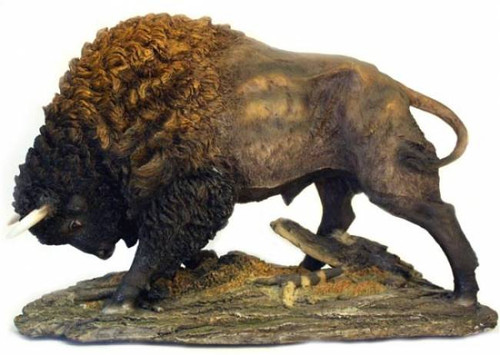 Large Buffalo Sculpture