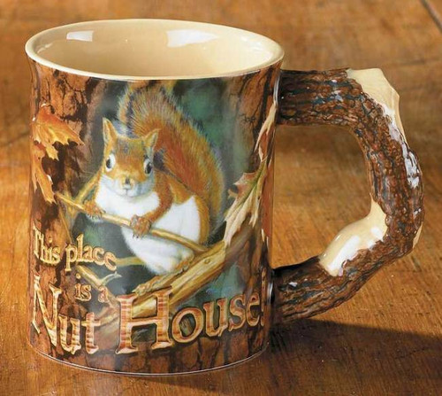 Squirrel (Welcome To The Nut-House) Sculpted Coffee Mug