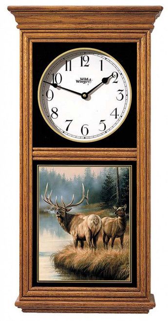 Elk Regulator Clock brown