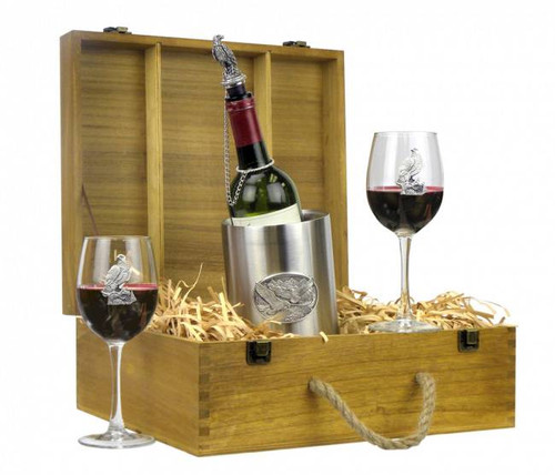 Bald Eagle Wine Boxed Gift Set
