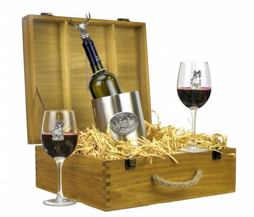 Whitetail Deer Wine Boxed Gift Set