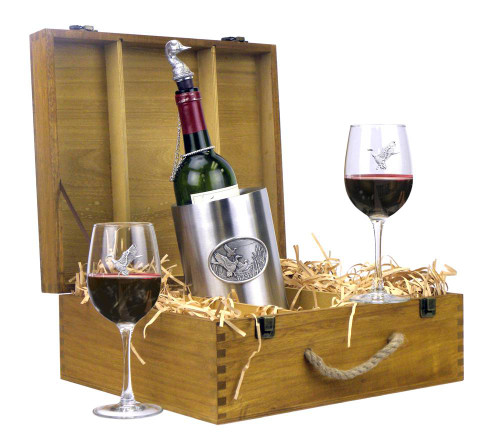 Mallard Duck Wine Boxed Gift Set