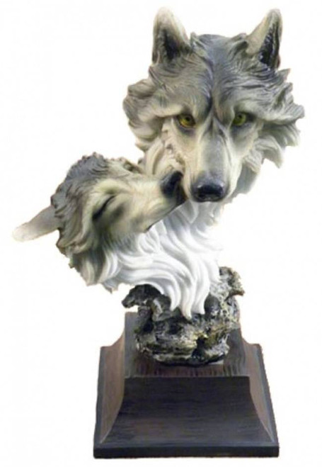 Wolf sculptures and statues